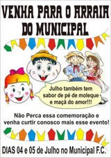 Cartaz Arraiá do Municipal
